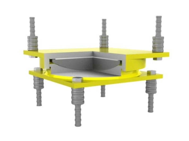 Spherical bridge bearings for bridges and building structures